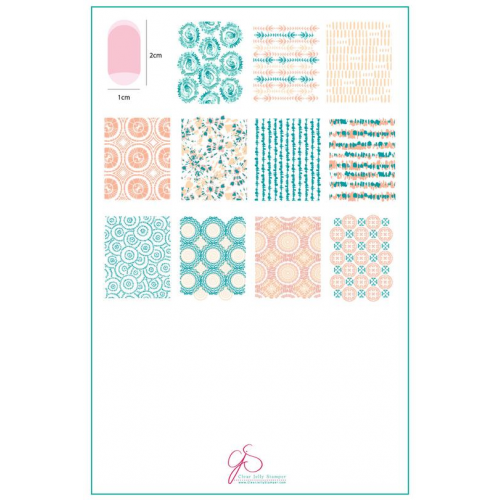 CJS Plate Textile Series - 1  - Clear Jelly Stamper 14.5x9.5cm
