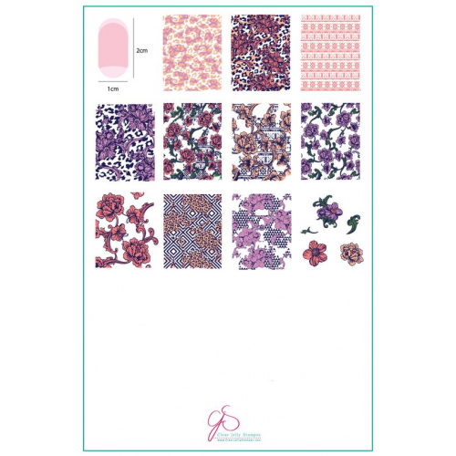CJS Plate Textile Series - 3  - Clear Jelly Stamper 14.5x9.5cm
