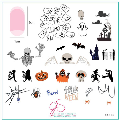 CJS Plate Hallo-Ween - Clear Jelly Stamper 8x8