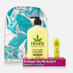 Hempz Gift Sweet Pineapple & Honey Melon  Body Set w/Lip Balm & Hempz Bag