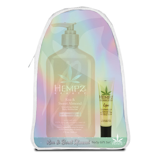Hempz Gift Koa & Sweet Almond Body Set w/Lip Balm & Hempz Bag