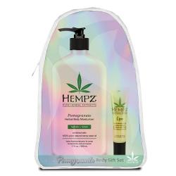 Hempz Gift Pomegranate Body Set w/Lip Balm & Hempz Bag