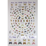 Decal - Large Sheet - Sticker Style F177  -Butterflies -sable