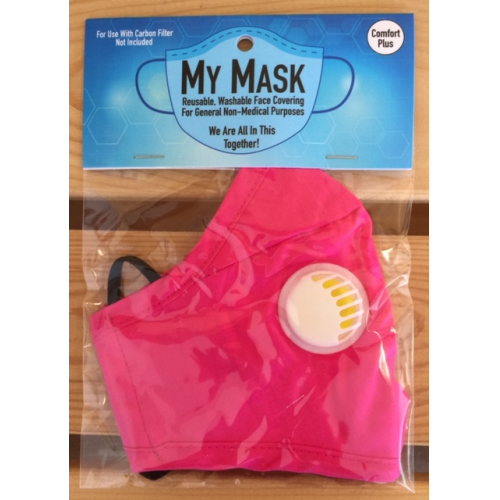 Mask -Reusable My Mask Comfort PLUS - Hot Fuschia each