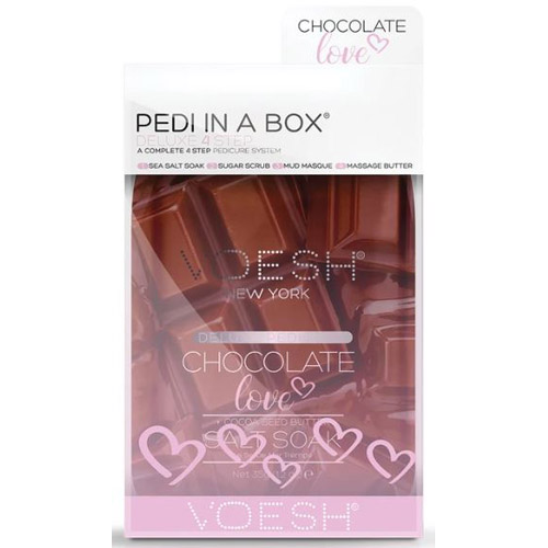 Voesh Pedi-in-a-Box 4 Step -Chocolate Love w/Cocoa Seed Butter